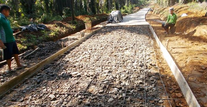 pengecoran jalan beton